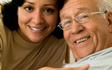 female-caregiver-elder-man-smiling